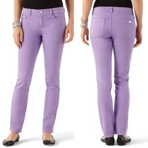 White House Black Market Lilac Slim Ankle Jeans
